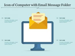 Icon Of Computer With Email Message Folder
