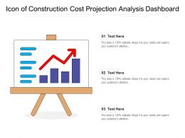 Icon Of Construction Cost Projection Analysis Dashboard