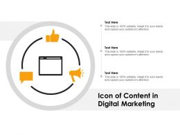 Icon Of Content In Digital Marketing