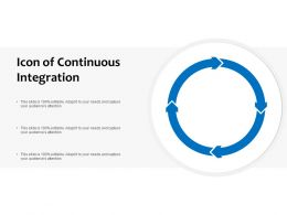 Icon Of Continuous Integration