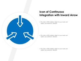 Icon Of Continuous Integration With Inward Arrow