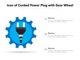 Icon Of Corded Power Plug With Gear Wheel