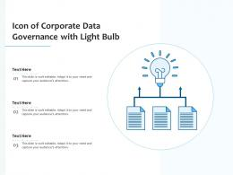Icon Of Corporate Data Governance With Light Bulb