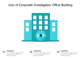 Icon Of Corporate Investigation Office Building