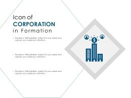 Icon Of Corporation In Formation