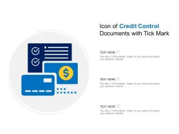 Icon Of Credit Control Documents With Tick Mark