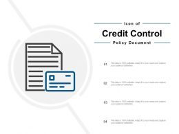 Icon Of Credit Control Policy Document