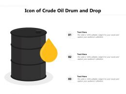 Icon Of Crude Oil Drum And Drop