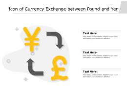 Icon Of Currency Exchange Between Pound And Yen
