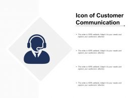 Icon Of Customer Communication