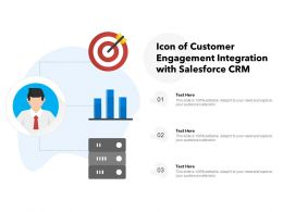 Icon Of Customer Engagement Integration With Salesforce CRM