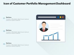 Icon Of Customer Portfolio Management Dashboard