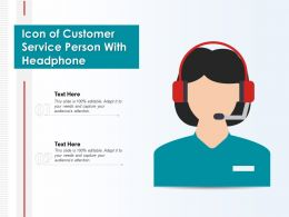 Icon Of Customer Service Person With Headphone