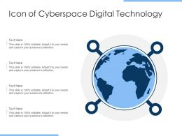 Icon Of Cyberspace Digital Technology
