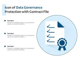 Icon Of Data Governance Protection With Contract File