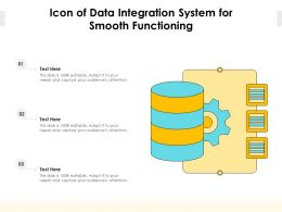 Icon Of Data Integration System For Smooth Functioning