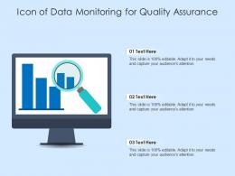Icon Of Data Monitoring For Quality Assurance