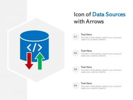 Icon Of Data Sources With Arrows