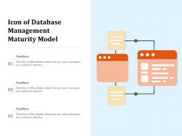 Icon Of Database Management Maturity Model