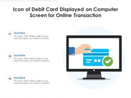 Icon Of Debit Card Displayed On Computer Screen For Online Transaction
