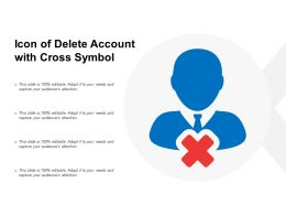 Icon Of Delete Account With Cross Symbol