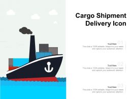 Icon Of Delivery By Ship Of Goods