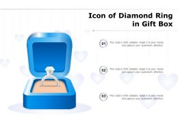 Icon Of Diamond Ring In Gift Box