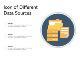 Icon Of Different Data Sources