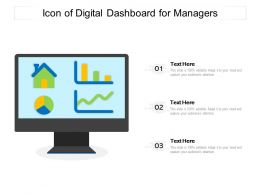 Icon Of Digital Dashboard For Managers