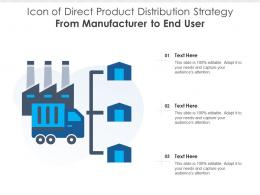 Icon Of Direct Product Distribution Strategy From Manufacturer To End User