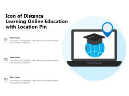 Icon Of Distance Learning Online Education With Location Pin