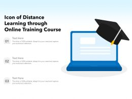 Icon Of Distance Learning Through Online Training Course
