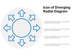 Icon Of Diverging Radial Diagram
