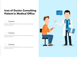 Icon Of Doctor Consulting Patient In Medical Office
