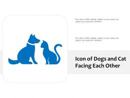 Icon Of Dogs And Cat Facing Each Other