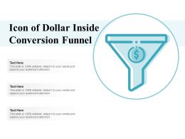 Icon Of Dollar Inside Conversion Funnel