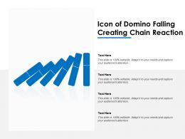 Icon Of Domino Falling Creating Chain Reaction