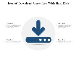 Icon Of Download Arrow Icon With Hard Disk