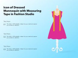 Icon Of Dressed Mannequin With Measuring Tape In Fashion Studio