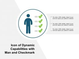 Icon Of Dynamic Capabilities With Man And Checkmark