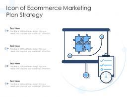 Icon Of Ecommerce Marketing Plan Strategy