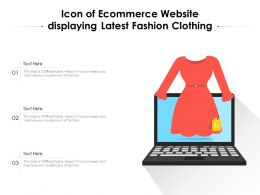 Icon Of Ecommerce Website Displaying Latest Fashion Clothing