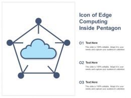 Icon Of Edge Computing Inside Pentagon
