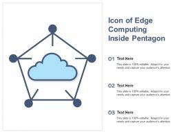 Icon Of Edge Computing Inside Pentagon