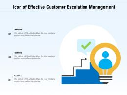 Icon Of Effective Customer Escalation Management