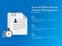 Icon Of Effort Save In Project Management