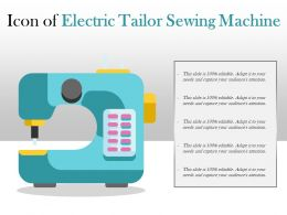 Icon Of Electric Tailor Sewing Machine