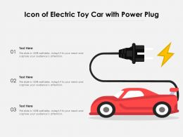 Icon Of Electric Toy Car With Power Plug