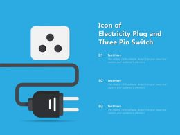 Icon Of Electricity Plug And Three Pin Switch