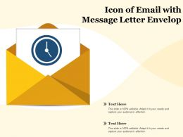 Icon Of Email With Message Letter Envelop